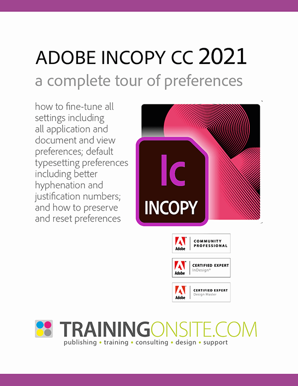 Adobe InCopy 2021 a complete tour of preferences
