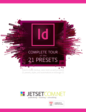 21 presets in InDesign CC