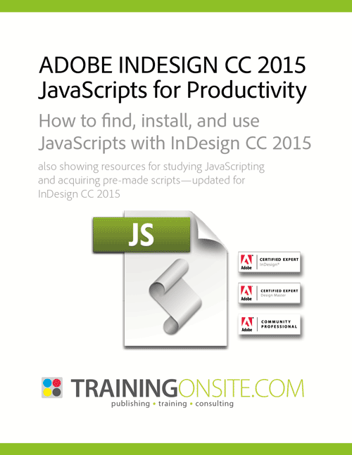InDesign CC 2015 JetSet JavaScripts for productivity