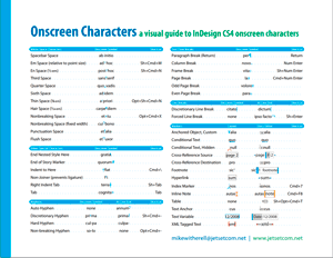 InDesign CS4 special onscreen characters