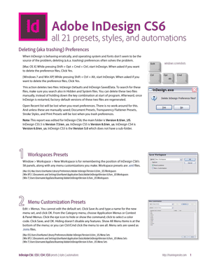InDesign CS6 and CS5 and CS4 and CS3 tour of 21 presets
